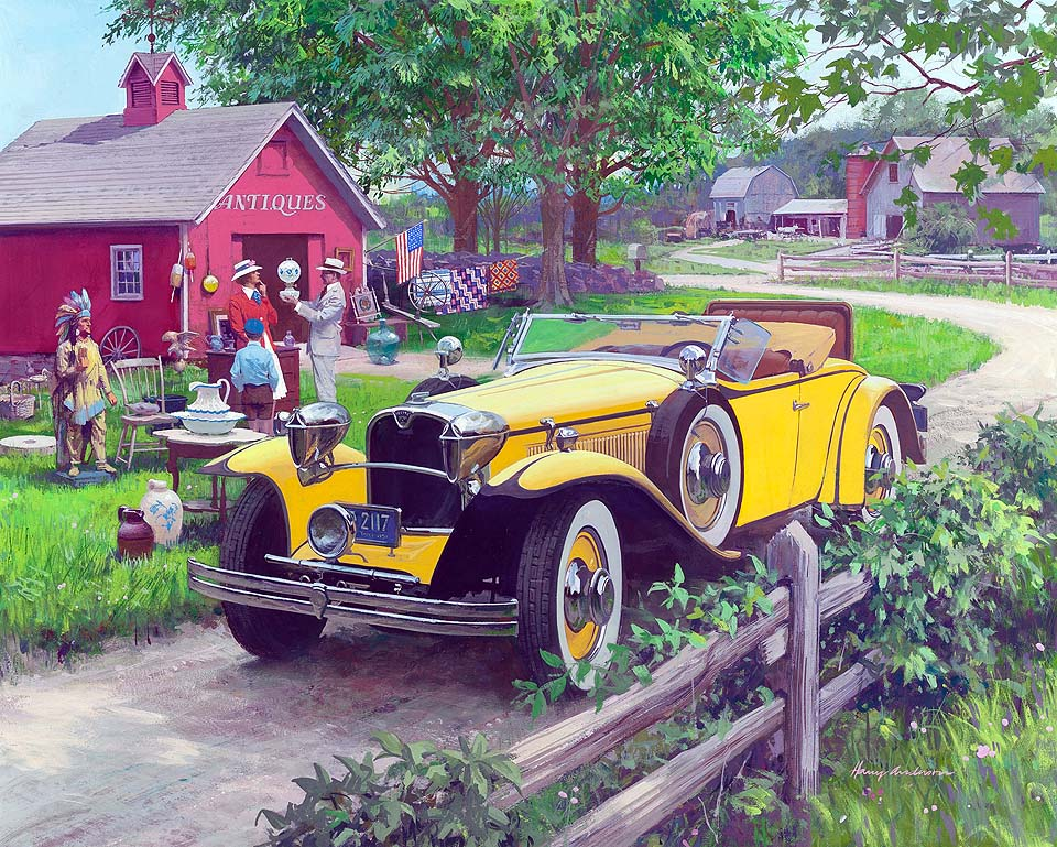 1930 Ruxton Roadster: Barn Antiques