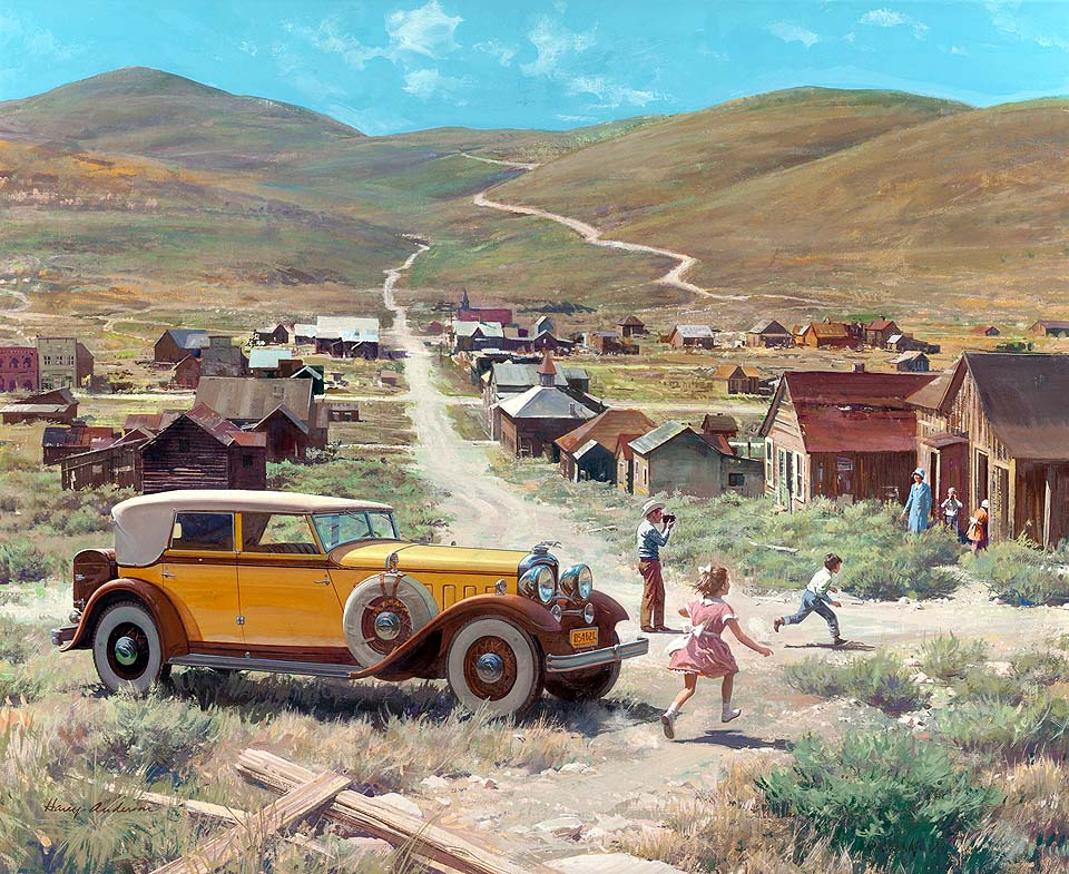 1932 Lincoln Convertible Sedan: Gold Ghost Town, Bodie, California
