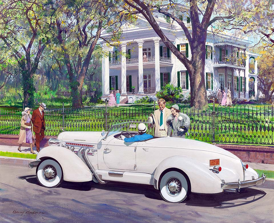 1935 Auburn Boat-tail Speedster: Stanton Hall, Natchez, Mississippi