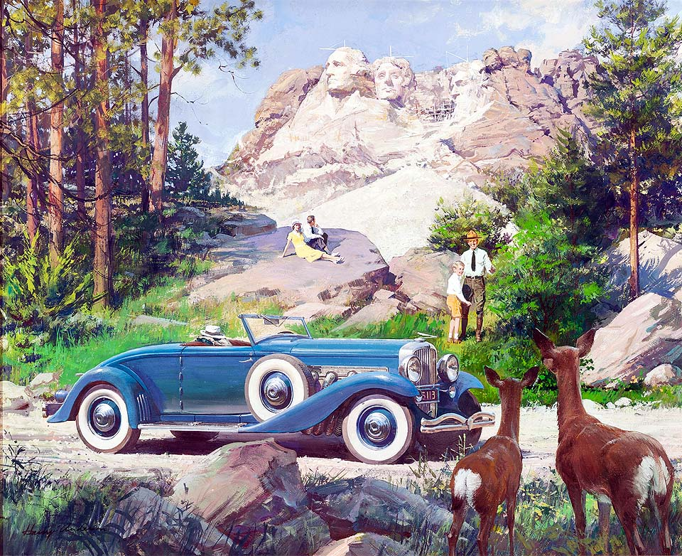 1936 Duesenberg Model JN Convertible Coupe: Mt. Rushmore National Monument, Black Hills, South Dakota