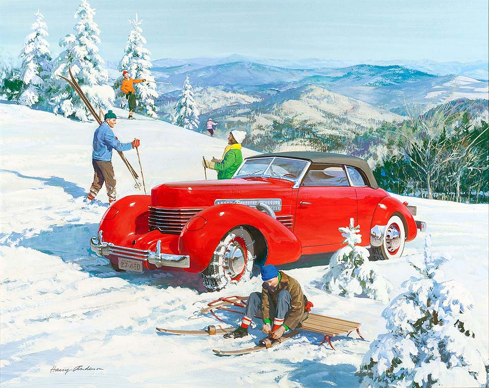 1937 Cord '812' Convertible Coupe: For pioneer American skiers