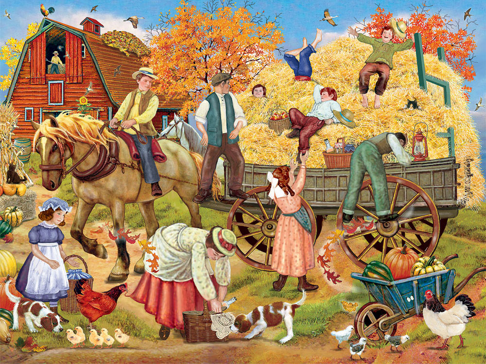 Early Settler Collection / Hitching Up For The Hayride